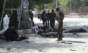 Víctimas del atentado en Kabul.