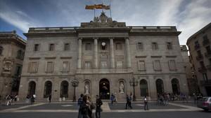 Fachada del Ayuntamiento de Barcelona.