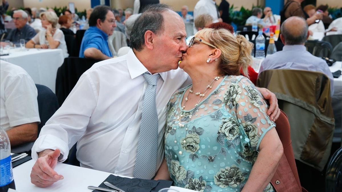 Andrés Melero i Josefa Ladó, el matrimonimés jove a lactebadaloní de les noces dor.