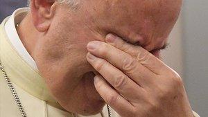 El Papa, en el vuelo de vuelta de su viaje a Chile.