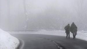 Imagen del último temporal en Navarra.