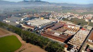 Fábrica del Grupo General Cable en la localidad de Manlleu, provincia de Barcelona.