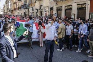 Escàs èxit de Salvini en la protesta contra el Govern italià