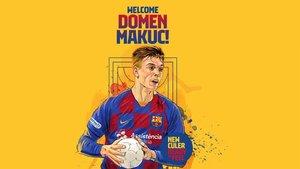 El Barça d'handbol fitxa la jove promesa Domen Makuc