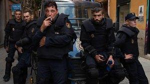 Una imagen promocional de 'Antidisturbios', la serie de Rodrigo Sorogoyen para Movistar+.