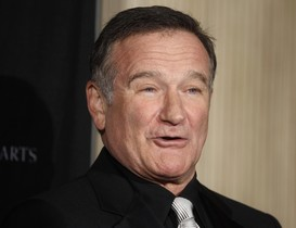 Robin Williams a lAcadèmia Britànica de les Arts Cinematogràfiques i de la Televisió, a Beverly Hills.