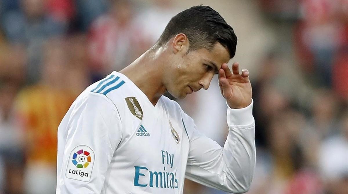 Cristiano, cabizbajo esta temporada. Solo lleva un gol en Liga.
