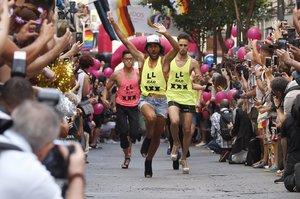 Imagen de archivo de la carrera de tacones de la calle Pelayo.