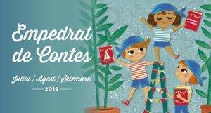 Cartel de las actividades infantiles de verano en las bibliotecas de Mataraó.