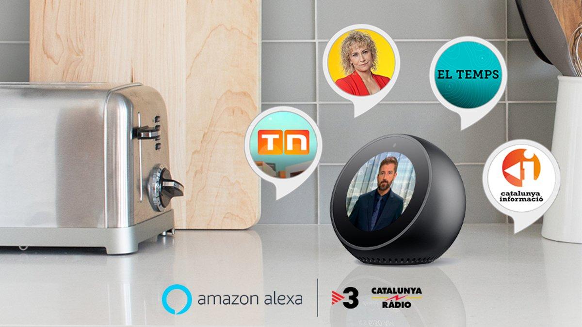 Imagen ilustrativa de los contenidos de TV-3 y Catalunya Ràdio incorporados a Amazon Alexa.