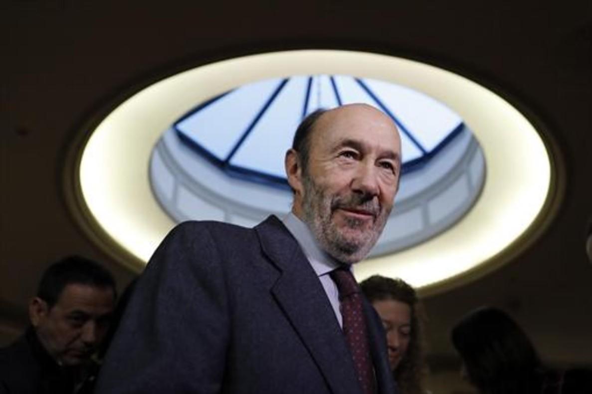 Alfredo Pérez Rubalcaba, el 29 de noviembre del 2016 en un acto Madrid.