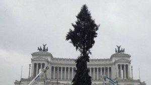 El árbol de navidad de Roma