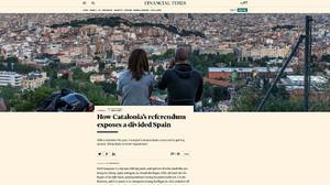 """El 'Financial Times' augura una """"confrontación inminente"""" por el referéndum"""