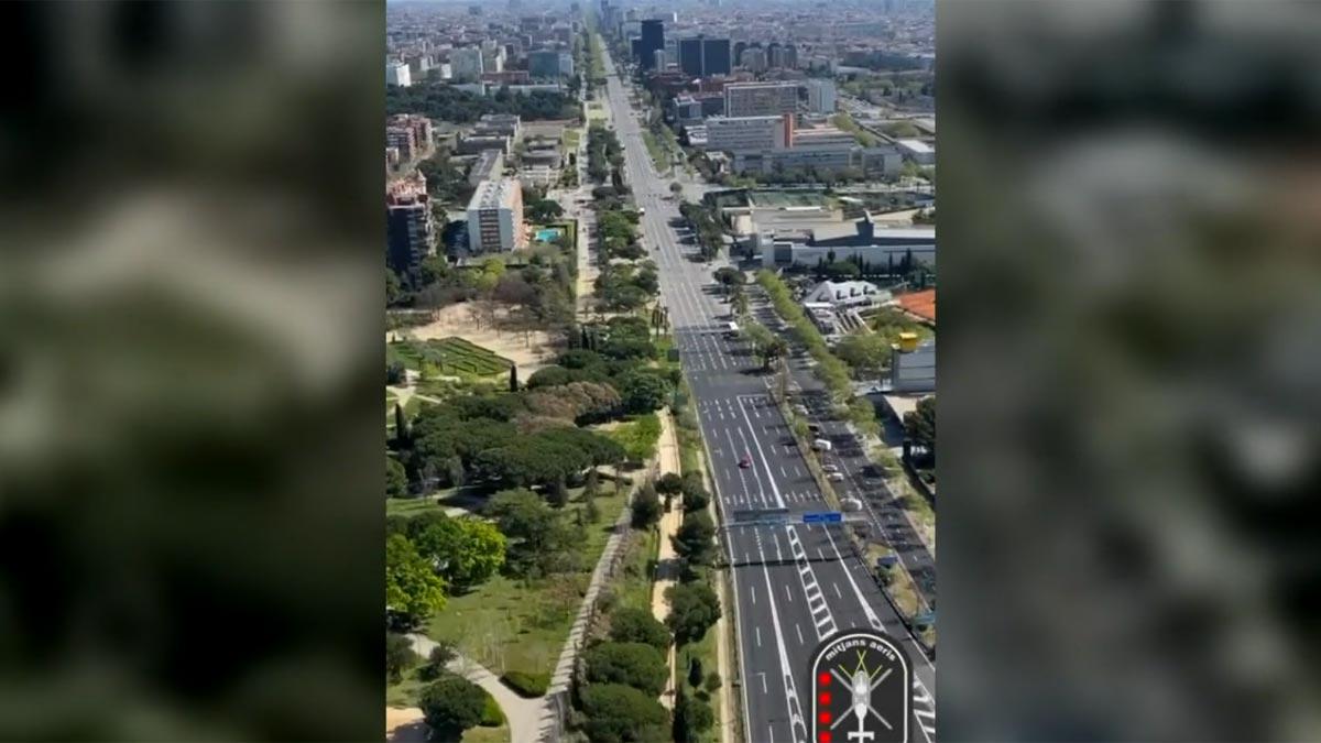 VÍDEO: Las imágenes aéreas de una Barcelona vaciada por el coronavirus