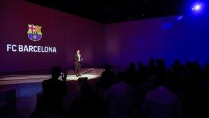 Bartomeu, en la presentación del nuevo plan de negocio digital del Barça.