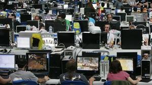 La Campus Party de 2008 celebrada en Valencia, donde la conexión a Internet es ultra rápida.