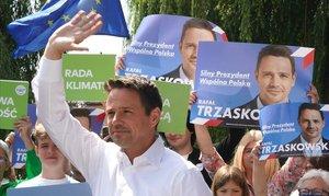 El candidato de Plataforma Cívica, Rafal Trzaskowski.