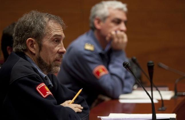 Carles Font, cap de bombers en l'incendi d'Horta de Sant Joan, el març del 2010.