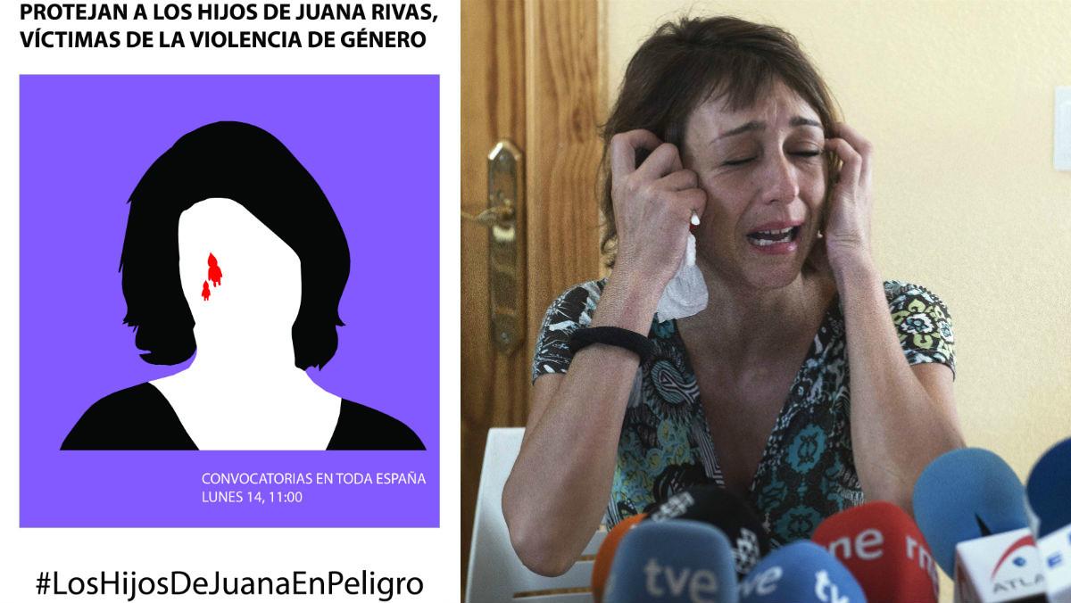 El cartel de la campaña #LosHijosDeJuanaEnPeligro.