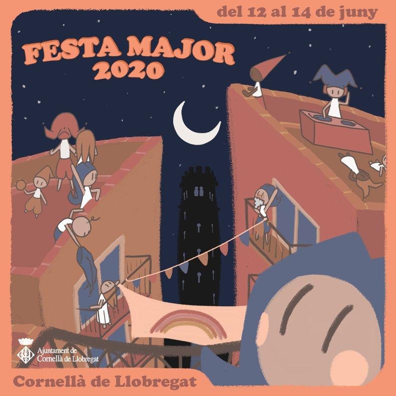 Cartel de la Fiesta Mayor de Cornellà 2020