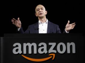 El consejero delegadode Amazon, Jeff Bezos, durante una conferencia, en Santa Monica (California).