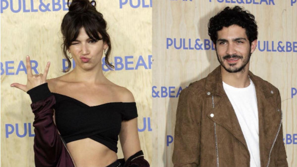 Chino Darín y Úrsula Corberó durante la inauguración de Pull&Bear en Galicia.