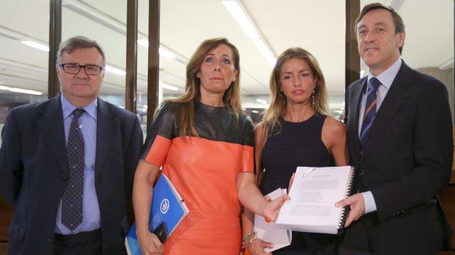 """Hernando califica la ley como un """"intento de destruir España""""."""