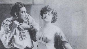 Georges Wague y Colette, en una representación de la obra La chair.