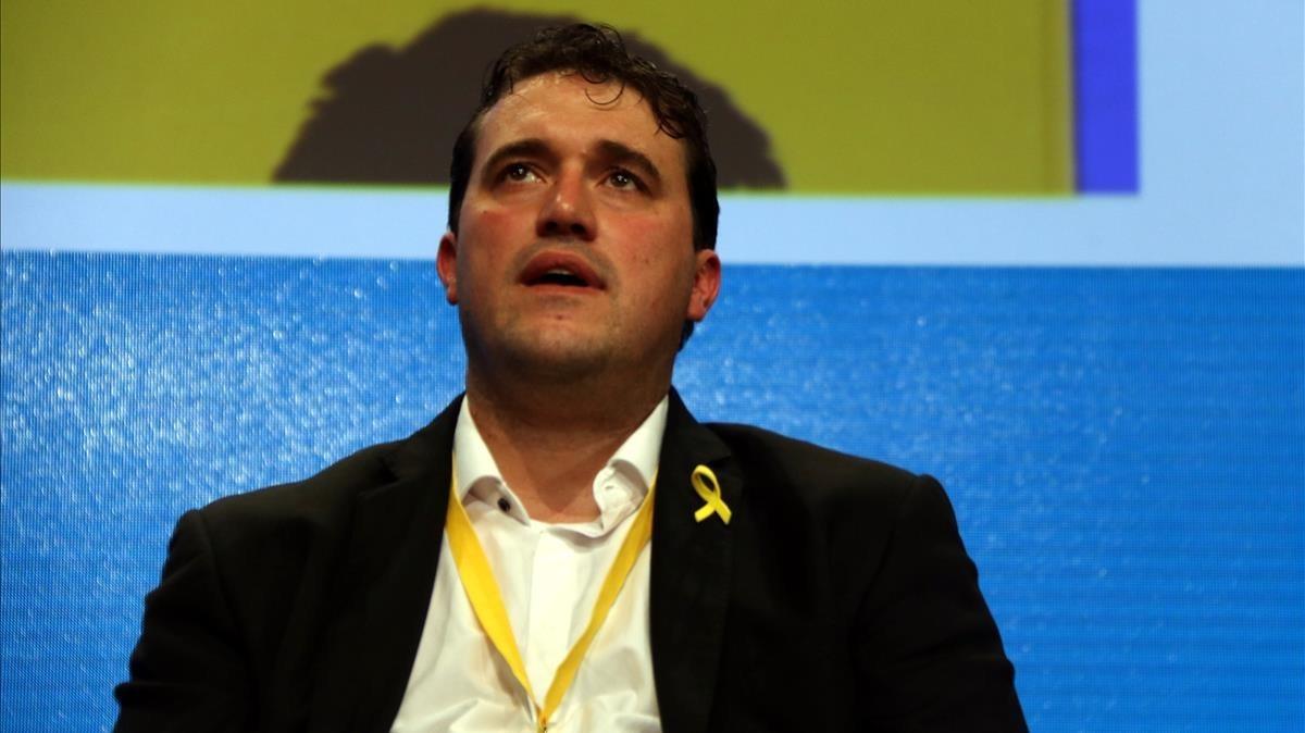 David Bonvehí, en la clausura del congreso del PDECat