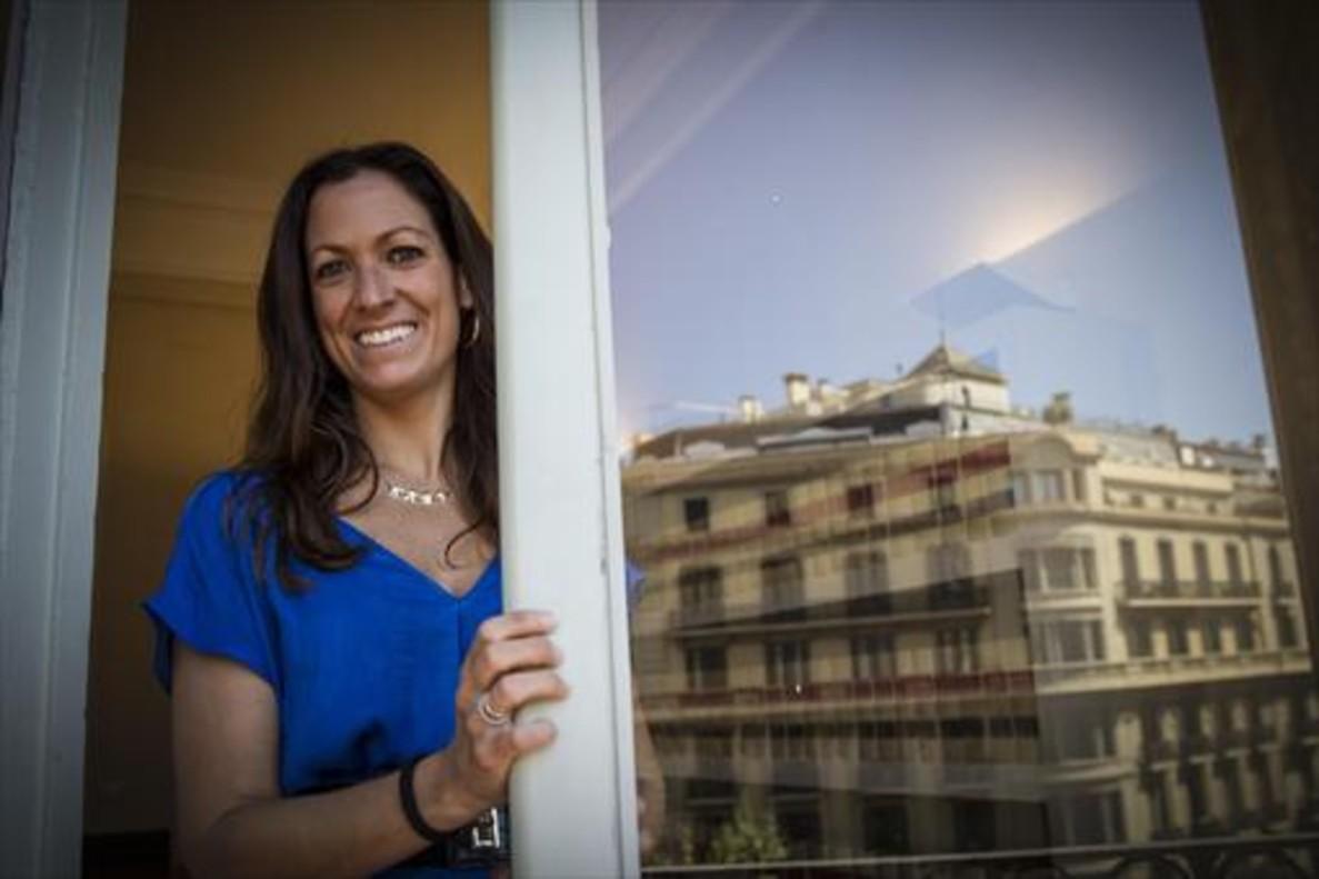 La decana del Col·legi de lAdvocacia de Barcelona, Maria Eugenia Gay, en su despacho. en una foto de archivo.
