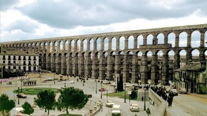 El emblemático acueducto de Segovia.