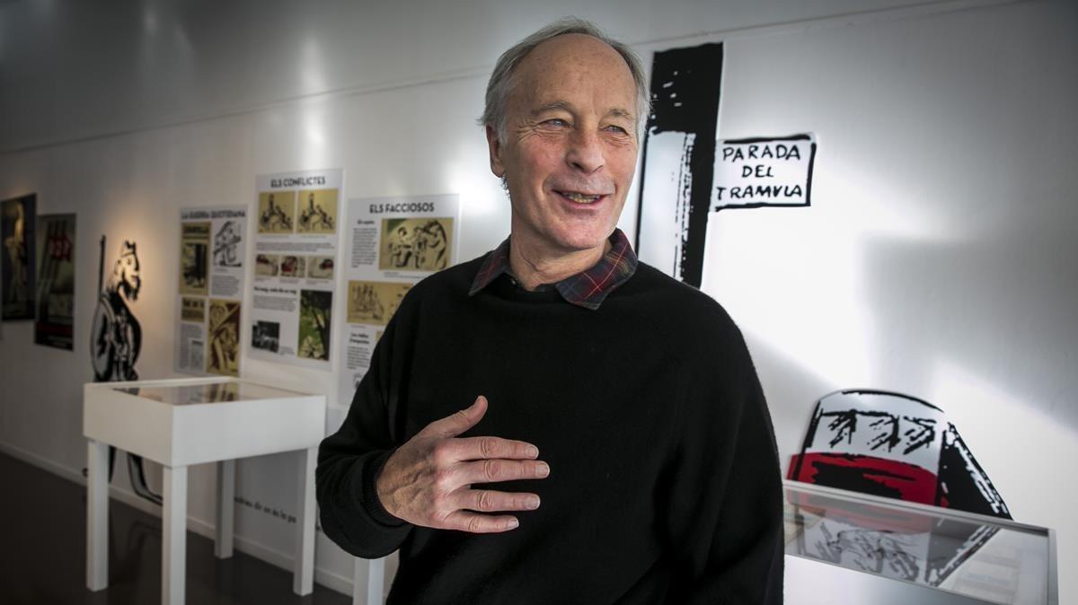 El escritor norteamericano Richard Ford, en su visita a Barcelona en el 2015.