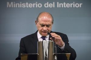 El ministro del Interior, Jorge Fernández Díaz, durante la rueda de prensa que ha ofrecido este miércoles.