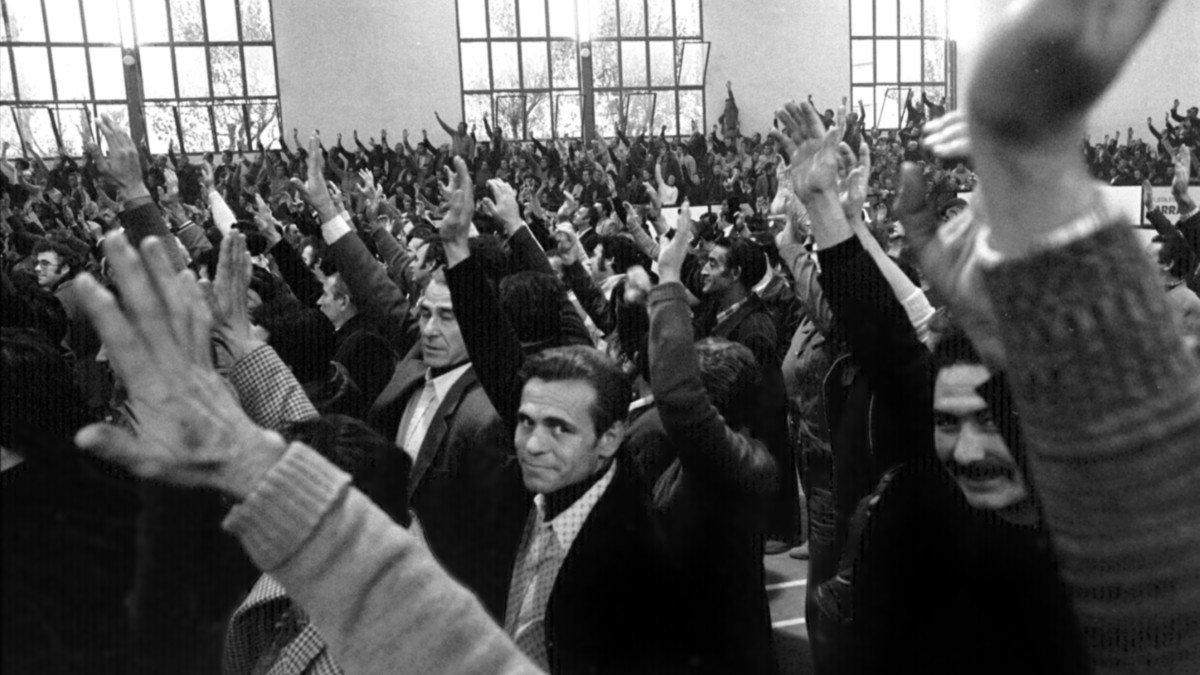 Fotografía de la exposición sobre el movimiento obrero en el Baix Llobregat.