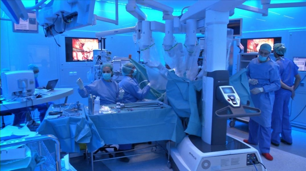 Operación de trasplante de riñón realizada en el Hospital Clínic de Barcelona.