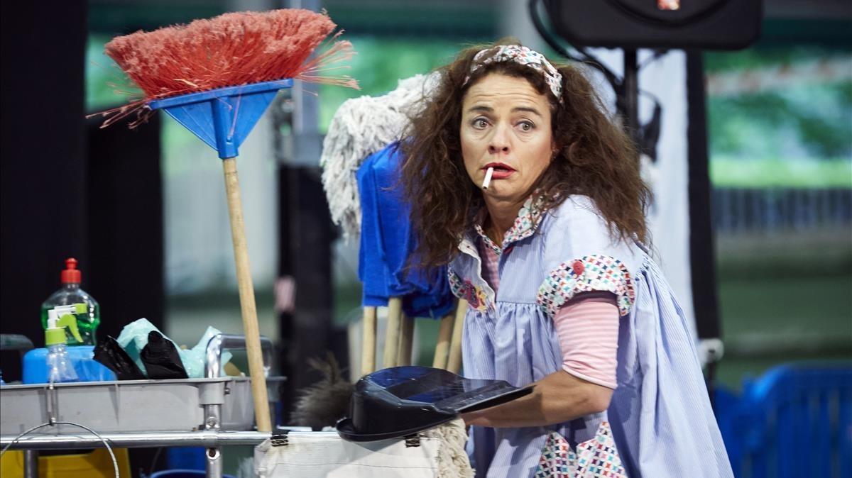 Wetfloor, espectáculo declown y teatro gestual deCristina Solé.