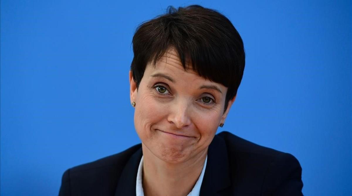 Frauke Petry, en una rueda de prensa el 19 de septiembre de 2016.