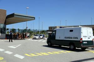 El furgón de la Guardia Civil que hace 10 días trasladó a Bassa y Forcadell a Catalunya.