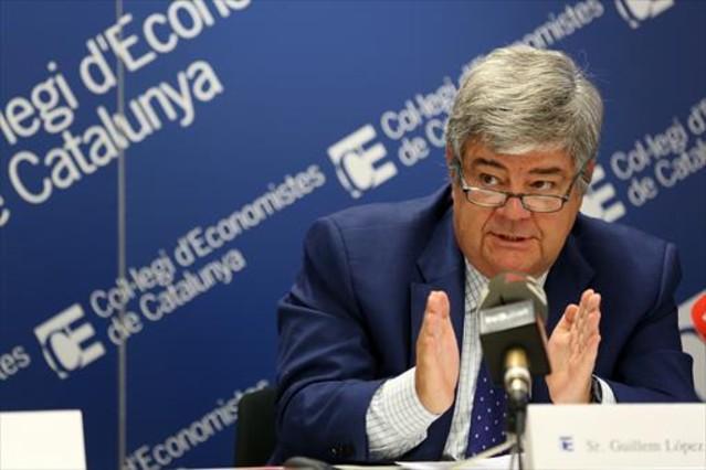 Guillem López-Casasnovas en un debate en el Col·legi dEconomistes.