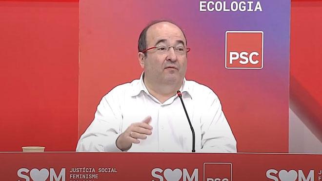 Iceta critica la gestión del Govern en la crisis del coronavirus.