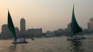 Imagen del Nilo a su paso por El Cairo.