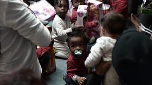 Fiesta infantil a bordo del Aquarius.