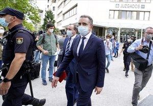 Jose Manuel Franco Pardo,Delegado del Gobierno de la Comunidad de Madrid en los Juzgados de Plaza Castilla donde declarócomo imputado por la manifestación del 8-M.