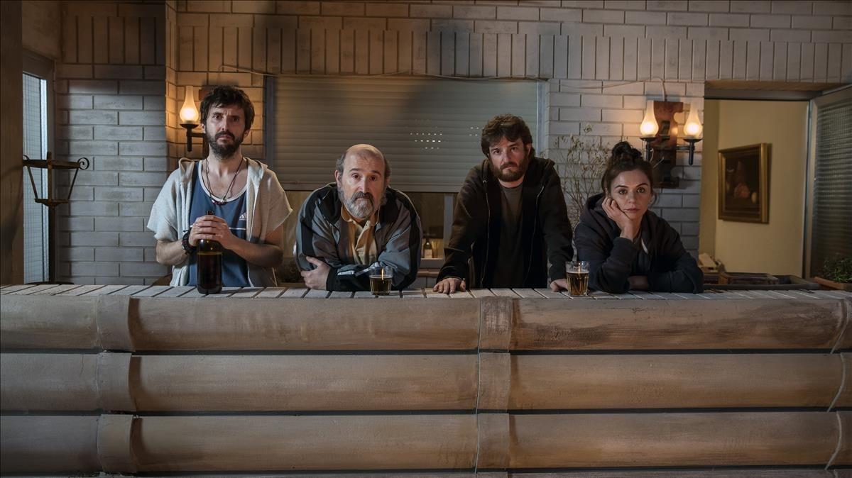 Julián López, Javier Cámara, Gorka Otxoa y Miren Ibarguren, en Fe de etarras.