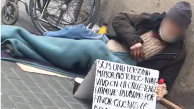 Liberado un mendigo explotado por una red rumana.