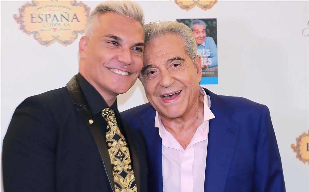 Andrés Pajares, con su hijo Andrés Burguera.
