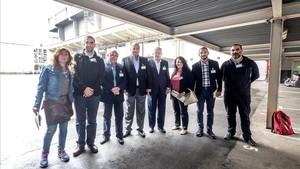 Los alcaldes libaneses visitan la incineradora de Sant Adriá del Besós, el 15 de septiembre.