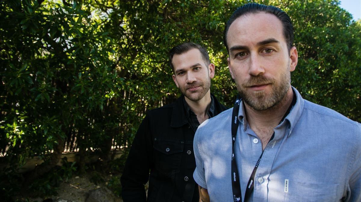 Los directores y actores Aaaron Moorhead y Justin Benson, coautores de la película 'The Endless'.