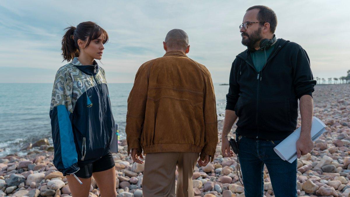Macarena García, en el rodaje de la serie de Movistar+ 'Paraíso'.