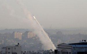 Misiles lanzados en la Franja de Gaza.